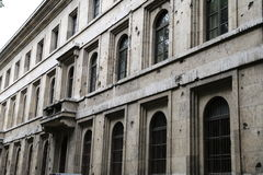 争斗损坏的大厦 免版税库存照片
