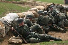 争斗的再制定在Orechov的 库存照片