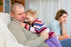 争论冲突有家室的人孕妇 免版税库存照片