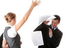 争论办公室 免版税图库摄影
