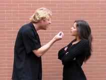 争论夫妇 免版税库存照片