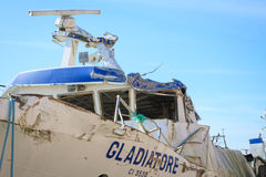 争论者船的击毁 库存图片
