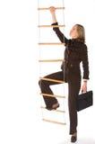 事业上升的梯子 免版税库存图片