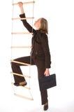 事业上升的梯子 免版税库存照片