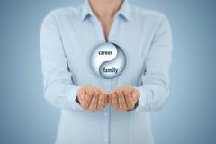 事业和家庭平衡 库存图片