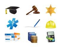 事业工作概念象集合例证 免版税库存照片