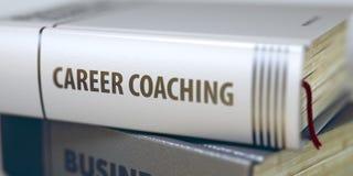 事业教练 在脊椎的书标题 3d 免版税库存照片