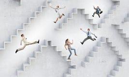 事业梯子 免版税库存图片
