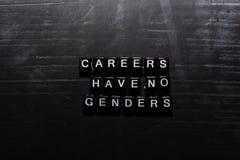 事业没有在木块的性别 教育、刺激和启发概念 库存例证