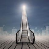 事业自动扶梯 免版税图库摄影