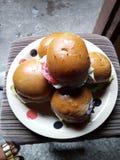 事件或党的美丽和甜多福饼 免版税库存图片