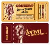事件或音乐会票入场词条传染媒介模板 皇族释放例证