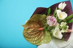 事件的美丽的花束,开花的郁金香 免版税库存图片