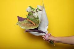 事件的美丽的花束,开花的郁金香 图库摄影