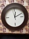 事务、典雅的时钟和墨西哥钞票的时刻 图库摄影
