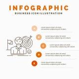 事务、目标、命中、市场、成功Infographics模板网站的和介绍 r 皇族释放例证