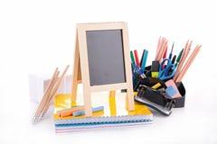 事务或学校辅助部件 免版税库存照片