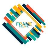 事务的五颜六色的框架有小条颜色背景 免版税库存图片