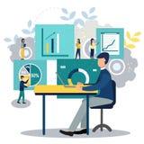事务的传染媒介例证,雇员学习infographics 设计例证写您 向量例证