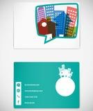 事务的卡片设计 免版税库存图片