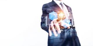 事务的媒介技术 混合画法 免版税库存图片