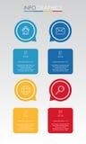 事务的现代信息图表模板与四步多色设计,标签设计,传染媒介信息图表元素,平的猪圈 库存图片