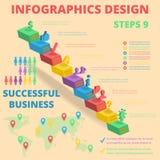 事务的背景 海报和招贴 流动技术概念 平的样式 库存图片