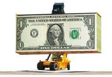 事务的,成功装货金钱 免版税库存照片