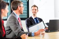 事务-买卖人开队会议 免版税库存图片