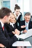 事务-成功的会议在办公室 免版税库存图片