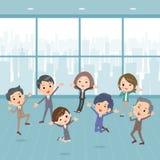事务people_happy在办公室 免版税库存照片