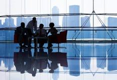 事务TeamMeeting在办公室 免版税库存图片