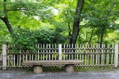 从事园艺在Tenryu籍寺庙,京都,日本 免版税库存照片