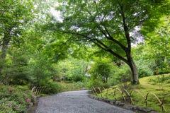 从事园艺在Tenryu籍寺庙,京都,日本 库存图片