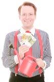从事园艺的企业金钱 免版税库存照片