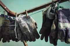 从事园艺的手套 免版税库存照片