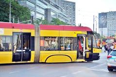 事故城市公共汽车和电车 图库摄影