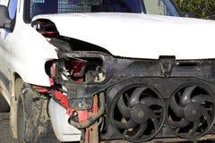 事故损坏了通信工具 免版税库存照片