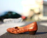 事故横穿步行者受害者 库存图片