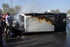事故汽车高速公路路 库存照片