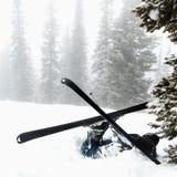 事故滑雪 图库摄影