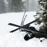 事故滑雪 免版税库存照片
