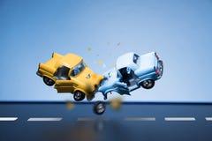 事故车祸损坏的业务量 免版税库存照片