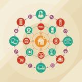 事概念聪明的家和互联网  免版税库存照片
