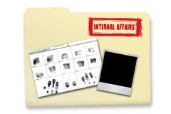 事理要素内部调查 免版税库存照片