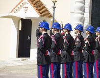 执行卫兵的变动军事力量   免版税库存图片