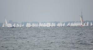 事件基尔星期-赛船会-基尔-德国-波罗的海 免版税图库摄影