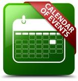 事件日历绿色方形的按钮 库存图片