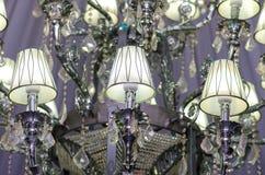 事件舞厅枝形吊灯 免版税库存照片