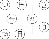 事IoT互联网的设备  免版税库存照片
